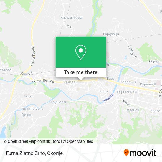 Furna Zlatno Zrno map