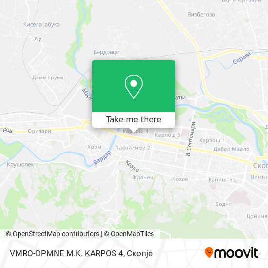 VMRO-DPMNE M.K. KARPOS 4 map