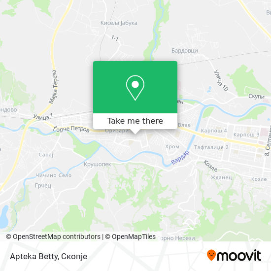 Apteka Betty map