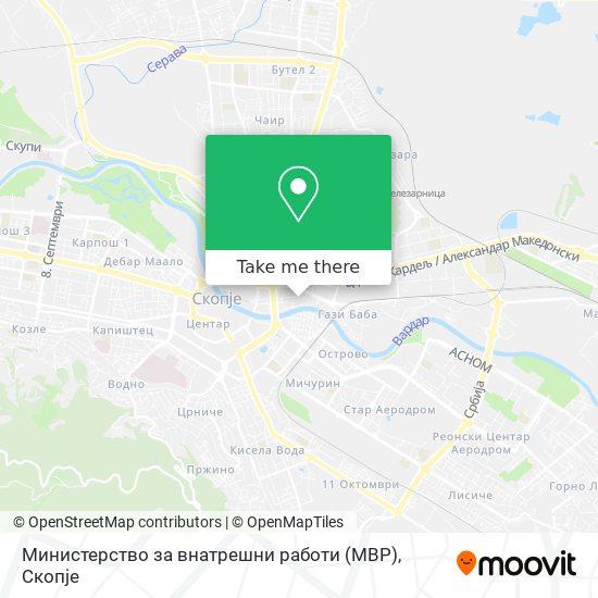 Министерство за внатрешни работи (МВР) map