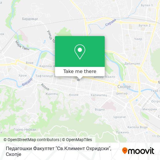"Педагошки Факултет ""Св.Климент Охридски"" map"