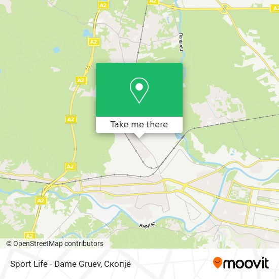 Sport Life - Dame Gruev map