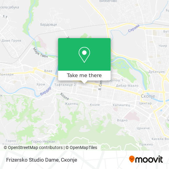 Frizersko Studio Dame map