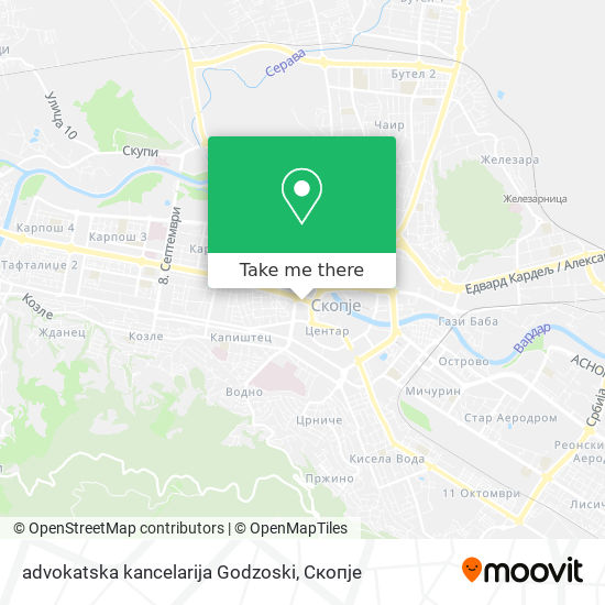 advokatska kancelarija Godzoski map