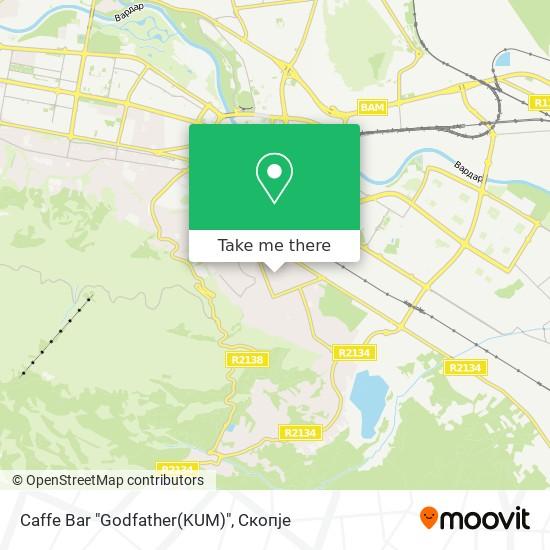 "Caffe Bar ""Godfather(KUM)"" map"