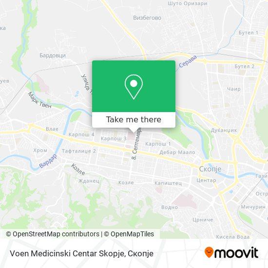 Voen Medicinski Centar Skopje map