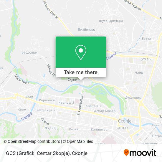 GCS (Graficki Centar Skopje) map