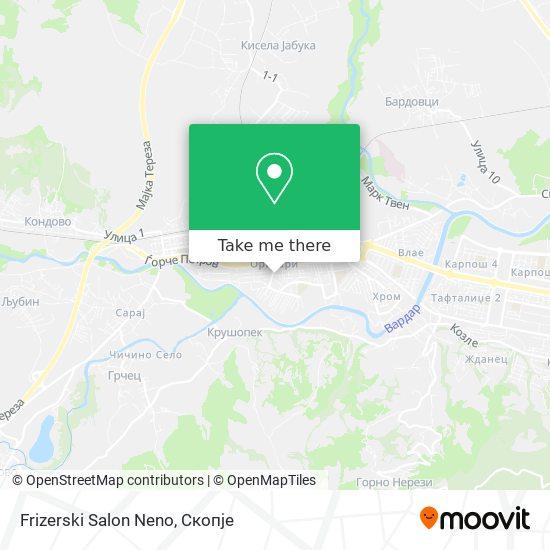Frizerski Salon Neno map