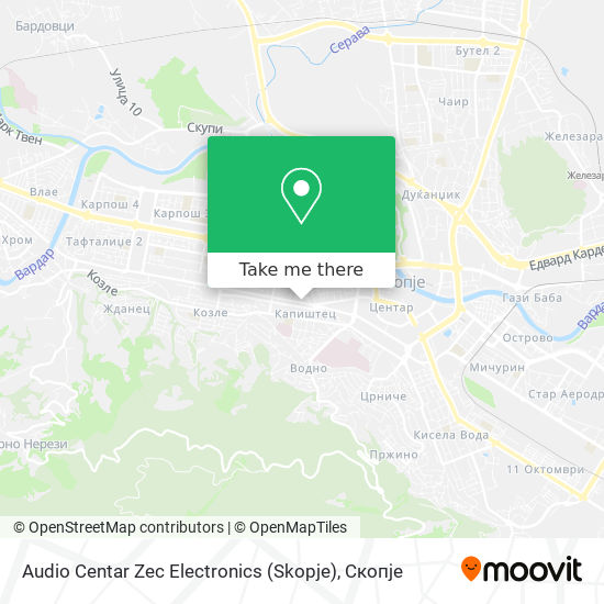Audio Centar Zec Electronics (Skopje) map