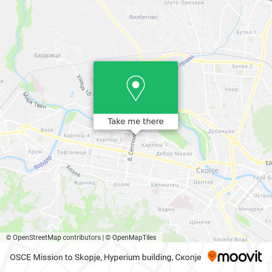 OSCE Mission to Skopje, Hyperium building map