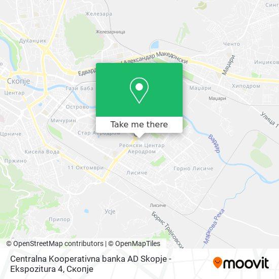 Centralna Kooperativna banka AD Skopje - Ekspozitura 4 map
