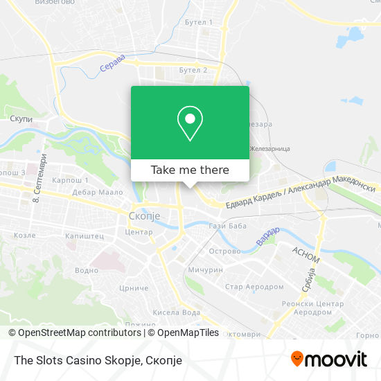 The Slots Casino Skopje map
