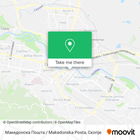 Македонска Пошта  / Makedonska Posta map
