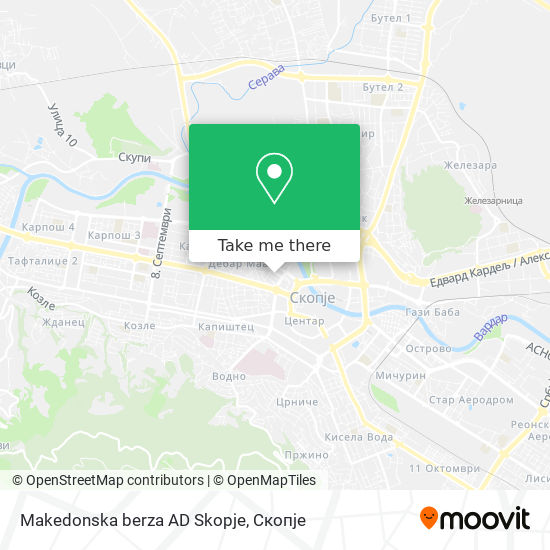 Makedonska berza AD Skopje map