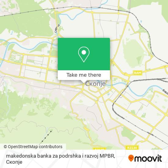 makedonska banka za podrshka i razvoj MPBR map