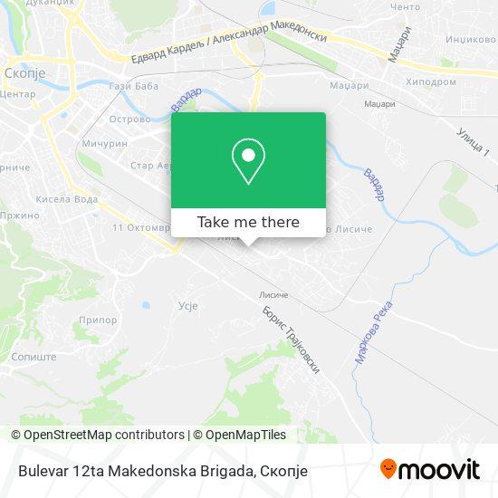 Bulevar 12ta Makedonska Brigada map