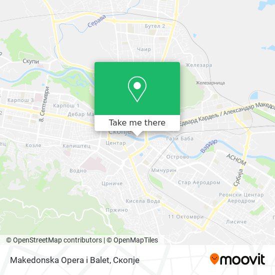 Makedonska Opera i Balet map