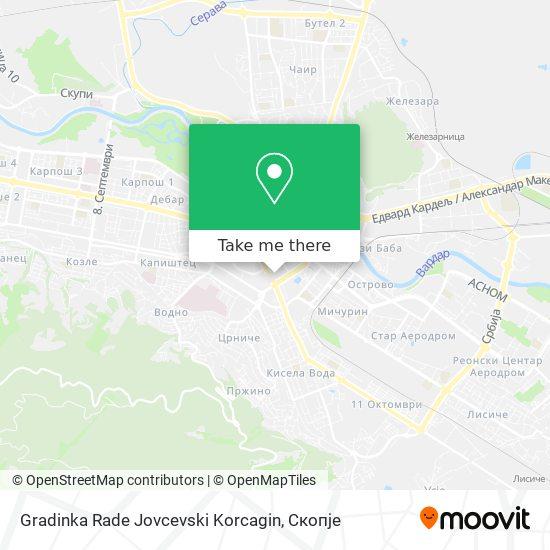 Gradinka Rade Jovcevski Korcagin map