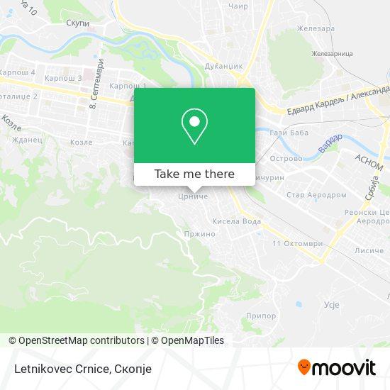 Letnikovec Crnice map