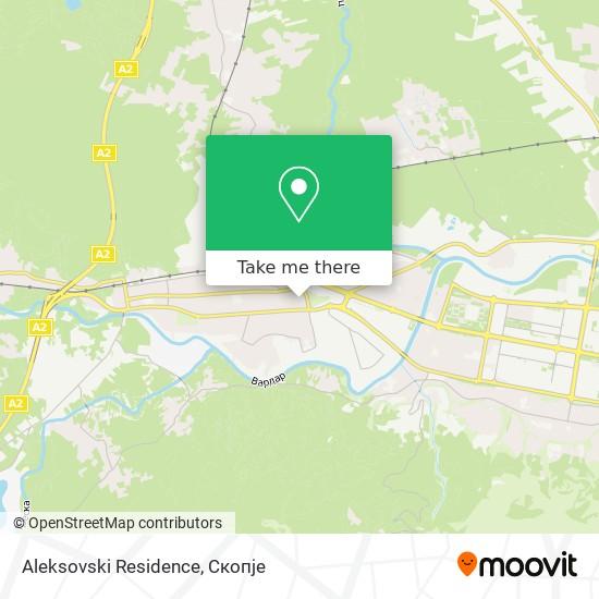 Aleksovski Residence map