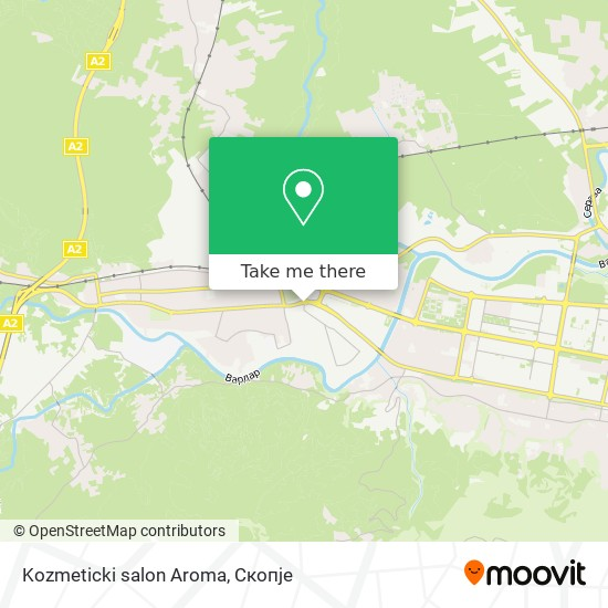 Kozmeticki salon Aroma map