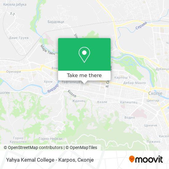 Yahya Kemal College - Karpos map