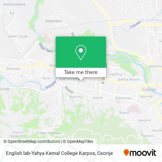 English lab-Yahya Kemal College Karpos map