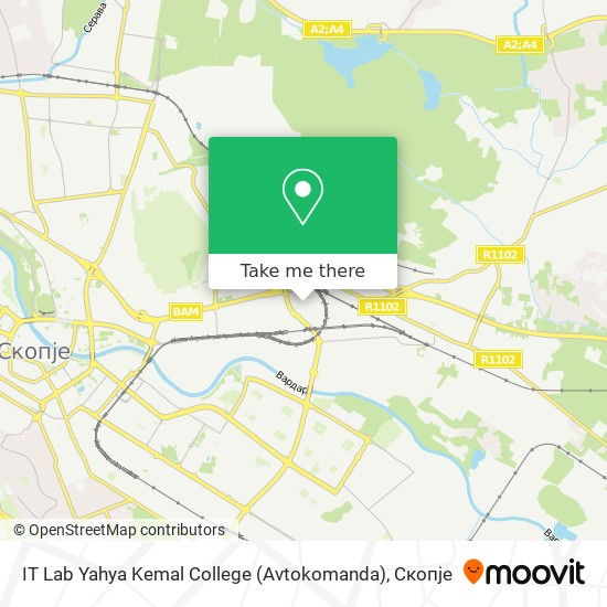 IT Lab Yahya Kemal College (Avtokomanda) map