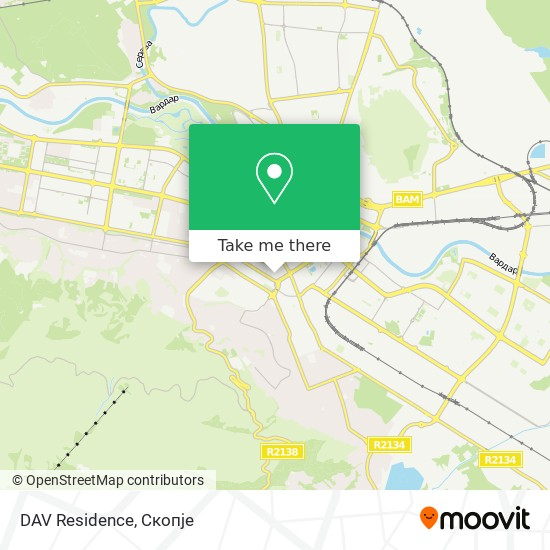 DAV Residence map
