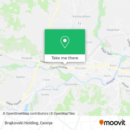 Brajkovski Holding map