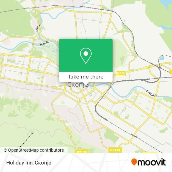 Holiday Inn map
