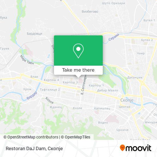 Restoran DaJ Dam map
