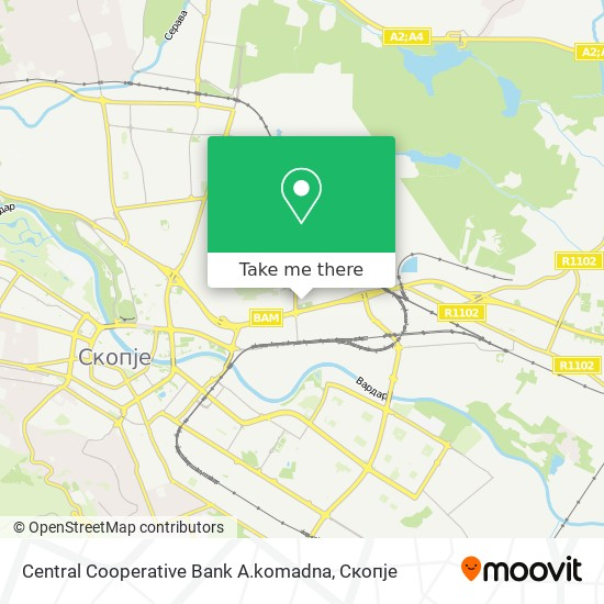 Central Cooperative Bank A.komadna map
