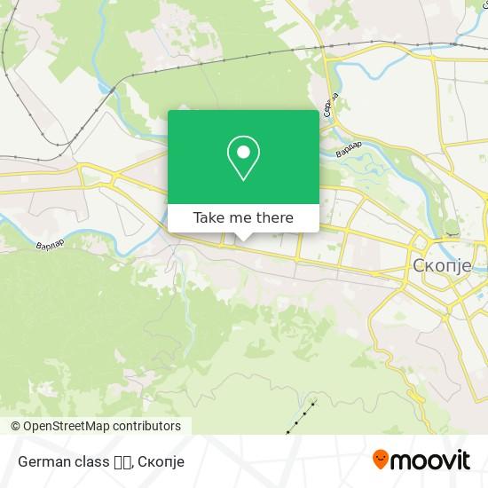 German class 🇩🇪 map