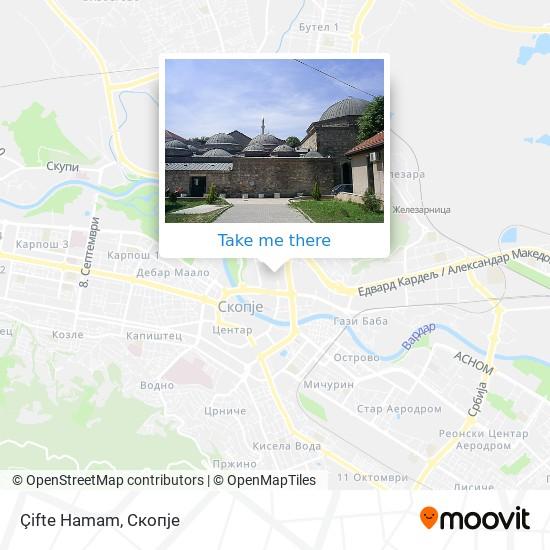 Çifte Hamam map