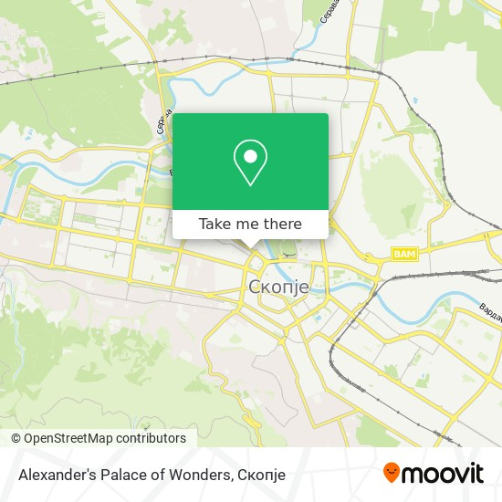 Alexander's Palace of Wonders map