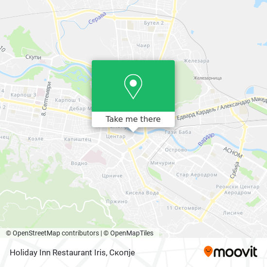 Holiday Inn Restaurant Iris map
