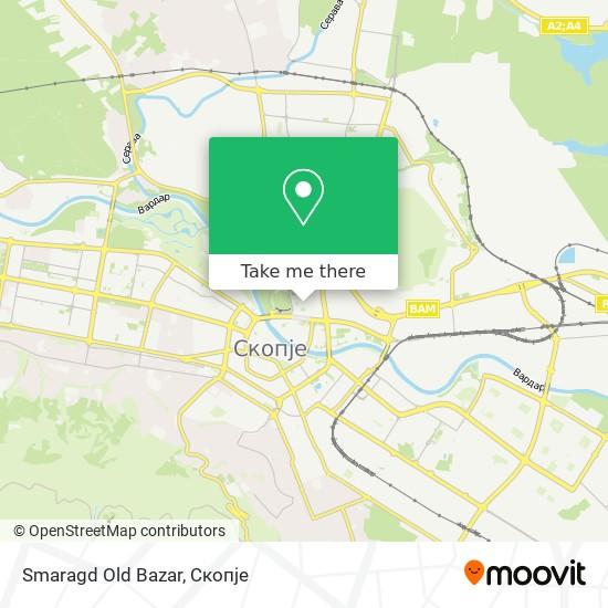 Smaragd Old Bazar map