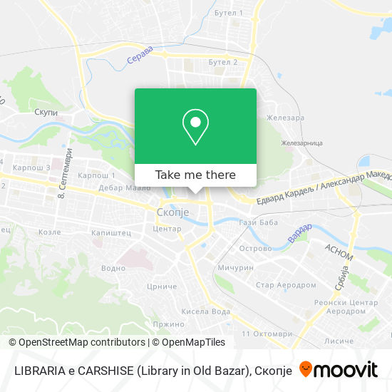 LIBRARIA e CARSHISE (Library in Old Bazar) map