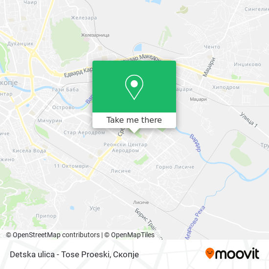Detska ulica - Tose Proeski map