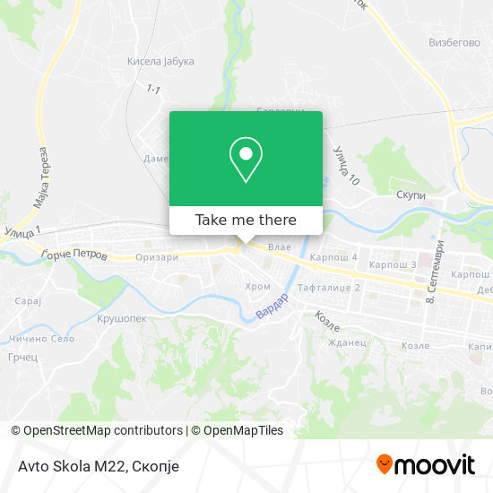Avto Skola M22 map