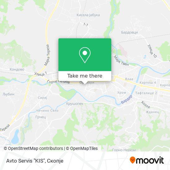 """Avto Servis """"KIS"""" map"""