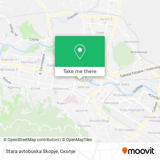 Stara avtobuska Skopje map