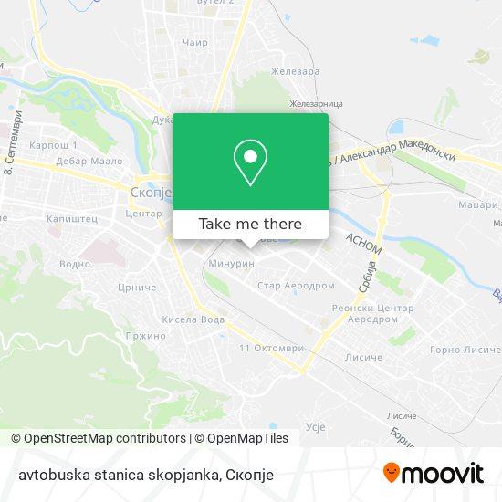 avtobuska stanica skopjanka map