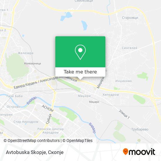 Avtobuska Skopje map