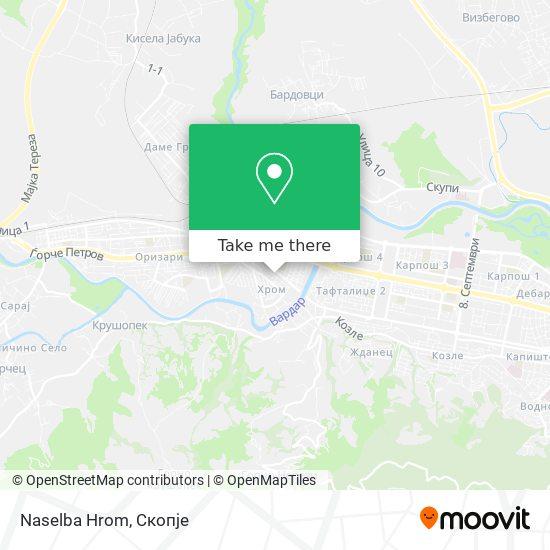 Naselba Hrom map