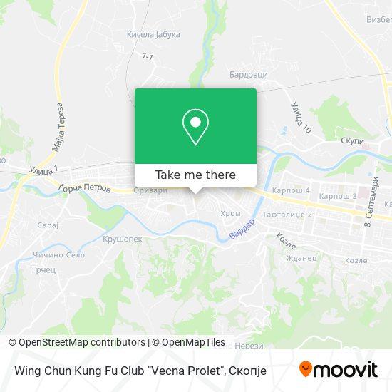 "Wing Chun Kung Fu Club ""Vecna Prolet"" map"