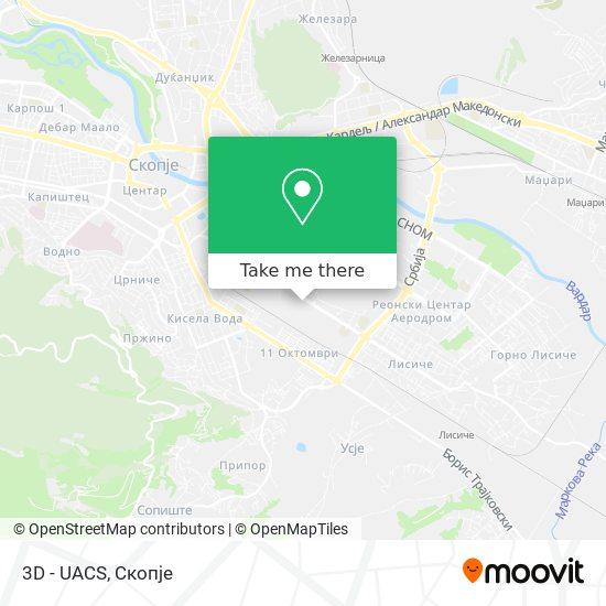 3D - UACS map