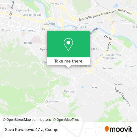Sava Kovacevic 47 J map