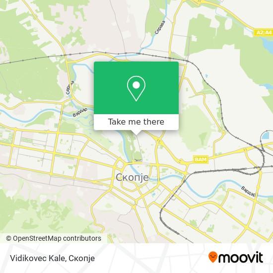 Vidikovec Kale map